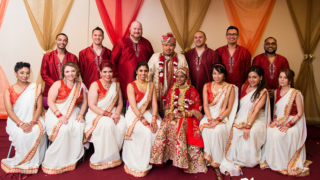 Indian Wedding Party Photograph