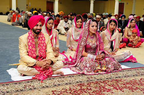 Indian Sikh marriage ceremony